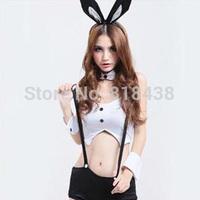 Ds costume black and white rabbit lady rabbits loaded uniform jazz dance halloween
