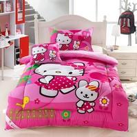 Free  Shipping! New Arrival Cartoon Kids Quilt Hello kitty Children Cotton Quilt Comforter 150*200cm Winter Warm