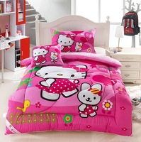 Free  Shipping! New Arrival Cartoon Kids Quilt Hello kitty Children Cotton Quilt Comforter 150*200cm Winter Warm