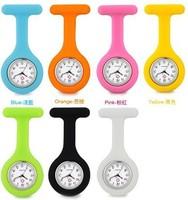 1PC New Fashion Silicone Nurse Watch Pocket Quartz Watch Doctor Men Women Jelly Hanging Pocket Watch Clock Free&Drop Shipping