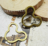 New Big Discount 12 Pcs/lot 38*32 mm Antique Bronze Plated Jumps Rings Split Rings Hook Findings Key Ring Diy Retro Style