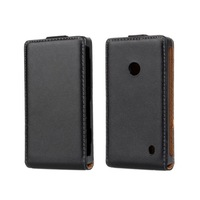 Black Flip Leather Case Cover For NOKIA Lumia 520 1PCS High Quality Free Shipping