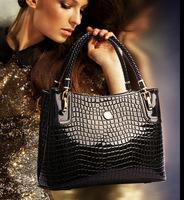 2014 new style crocodile pattern leather women handbag European style women shoulder bag fashion women bag A24