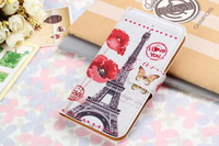 20pcs/lot Free Shipping Colorful book leather Flip stand wallet Case Cover for samsung galaxy S5 i9600