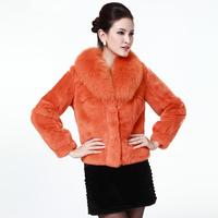 EMS free shipping!Female fox fur rex rabbit hair fur coat short fur  slim design real fur coats for women