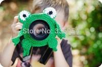 Min.order is $9.9 (mix order)Handmade knitted lens set frog camera case child props
