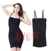 Women Tummy Thigh Control Tube Dress Slip Shapewear Slimming Body Shaper Dress