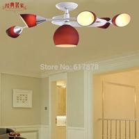 Modern minimalist living room lights LED Ceiling Lights Restaurant purple glass lamps bedroom lamps lighting study