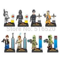 Wholesale 2014 Star Wars Figures 8pcs/lot Building Bloks Sets Model Toys Minifigures Brick Toys