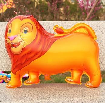 venda de alumínio leão animal flutuante ar esfera flutuante balão de ar brinquedos as crianças grossista. 20 pcs/lote(China (Mainland))