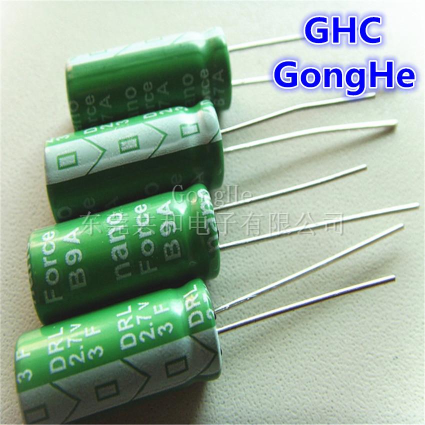 free shipping 10pcs/lot 2.7v high power 3f super capacitor(China (Mainland))