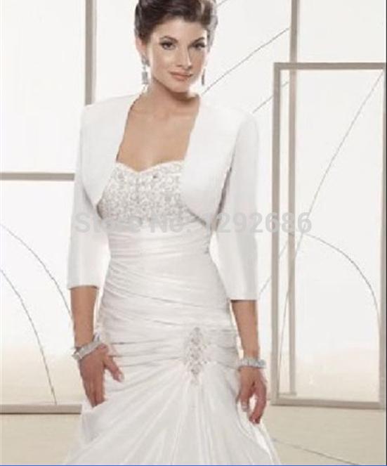 Jacket White Ivory Bridesmaid Dress Satin Jacket