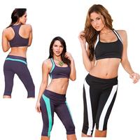 819 Yomsong 2014 New Fashion Women's Legging Yoga Patchwork Fitness Sports Leggings Women's capris Pants