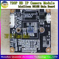 720P HD IP Camera Module,1Megapixel CMOS ONVIF,H.264,OV9712 sensor, hisilicon 3518E Main Board,cctv Camera module
