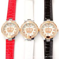 Martian man 2014 new arrival fashion Korean fashion trend of high-grade female student diamond quartz watch free shipping D0024