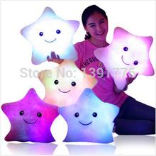 HOT Colorful LED stars, LED light pillow,plush pillow, Christmas toys(China (Mainland))