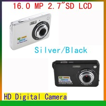 High Quality 16Mp Max 3Mp CMOS Sensor Digital Camera with 4x Digital Zoom and Rechareable Lithium Battery+ Free Shipping