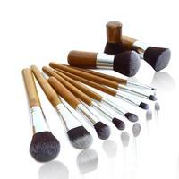 New 2014 Professional Makeup Brushes Set 11 pcs Soft Synthetic Hair Cosmetic Make Up Bamboo Brush Kit pincel maquiagem