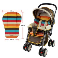 Baby Stroller Cushion Seat Pad Rainbow Thick Waterproof  Pram Baby Car seat cushion Cotton mat 0-36 months