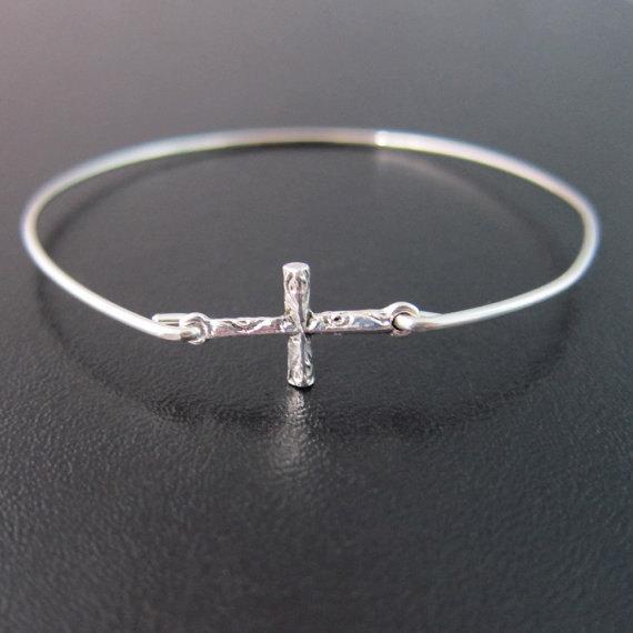 Sideways Cross Bangle Bracelet Sideways Cross Bracelet