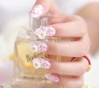 Excellent 24PCS*Artificial Noble Design 3D Pre-glue Acrylic False Nail Fake nails  free shiping by DHL YBFN3768