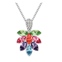 Quality crystal necklace short design Women - g118 fashion flowers