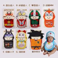 Hot sale wholesale Children's cartoon designer style bib hat twinset toddler kids infant baby bib rice towel bibs cap set