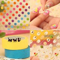Korea creative stationery, fresh cartoon mini phone decorative sticker diary stickers nail stickers a mixed bag 15