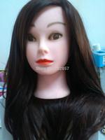 """hair mannequin head 22"""" training head High temperature wire  Mannequin Training Head free shipping"""