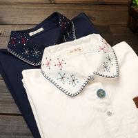 2014 Women casual blusas Vintage blouse fashion clothes ladies blouse & shirts embroidery roupas blusas femininas vestidos