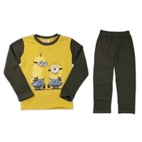Retail Cartoon Kids Pijamas Sets Full Sleeve Minions infantil Unisex Pajamas Set Round Neck Casual Baby Wear Clothing PS076