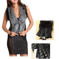 2014 Fashion Womens Faux Fur Sleeveless Vest Outerwear Jacket Waistcoat Tops Size: M-XXXL [70-6211]