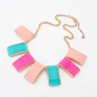 2014 Hot Sale Newest Women Semi-Precious Stones Fashion Crystal Necklace & Pendants Brand Jewelry statement jewelry women