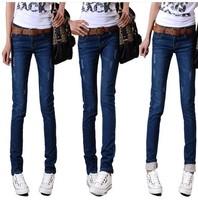 New 2014 Women Jeans Feet Denim Pencil Pants Women Leggings Trousers Free Shipping DJ-14