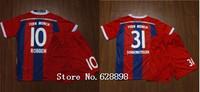 14/15 Ribery Jersey With Shorts Set,Robben,Muller,Gotze,Ribery 2015 Mens Football t-shirt Soccer uniforms kit