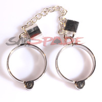 Free shipping Inner D:45mm/50mm/55mm metal handcuffs with chain and two locks, sexy restraint cuffs for couples sex toys
