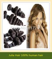 Good Quality 6A Malaysian Loose Wave100% Human Hair Extension Julia Queen Hair Mix 3/4 pcs Lot  Virgin Hair Weave Full Bundle