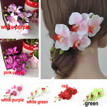 Free Shipping Fashion Lady Womens Hair Flower Clip Bridal Hawaii Party Hair Accessories Hot(China (Mainland))