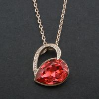 Intalina Jewelry Latest Unique Design Love Statement Tear Drop Unique Pendant Necklace Best Valentine's Gift For Couples