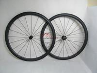 New aero U shape wheels 38mm clincher carbon bicycle wheelset black hubs and spokes