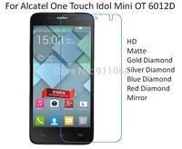 For Alcatel One Touch Idol Mini OT 6012D HD/Matte/Diamond Screen Protector Film Free Shipping