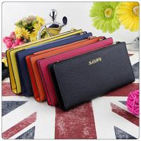 2014 New Fashion Women's Wallet Long Zipper Ladies Designer Money Holder Clip Fashion Pattern Clutch Purse 5 Colors Wholesale