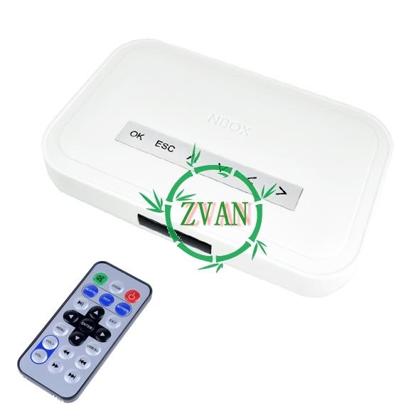 2014 New Holiday Sale! NBOX RMVB RM MP3 AVI MPEG Divx HDD TV USB SD Card Media Player Remote 947(China (Mainland))