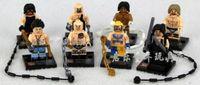 Set 8 World Wrestling Minifigures Figures Blocks Building Toys N/Box #i60