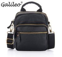 men's messenger bags new fashionable messenger shoulder crossbody students black brown soft solid PU leather bag for men
