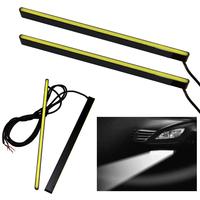 2x 19cm 12V Car DRL Fog Strip Daytime Running Bright COB White Lights Waterproof Free shipping & wholesale