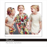 2014 Famous Italy brand D designers G princess royal girls party dresses kids vintage clothes coat children's clothing sets