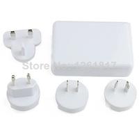 6 Port USB Universal Travel AC Power Adapter with EU/US/AU/UK Plugs White