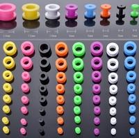 Wholesale 8pcs body jewellery Bulks Multicolours Tunnel Ear Expanders Piercing 2-12mm BC15(8)-ka
