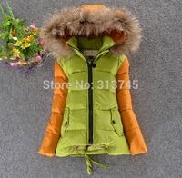 free shipping winter 2014 brand FOX FUR collars children down jacket for boys kids coat jacket ,children outerwear Down Parkas